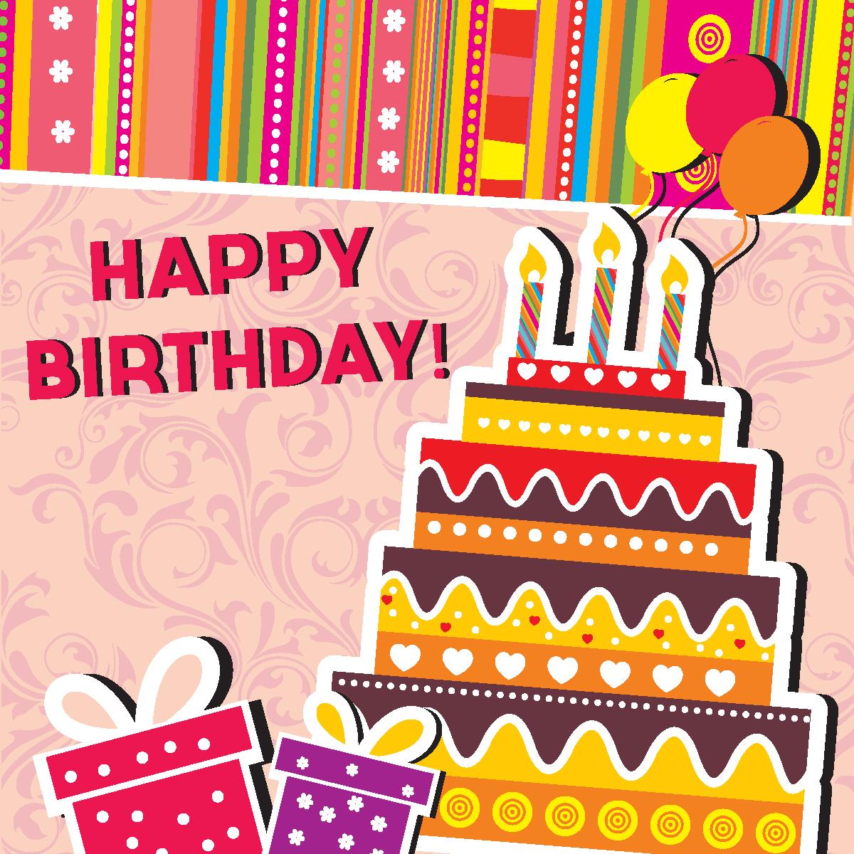 Векторные открытки с днем рождения для мужчины